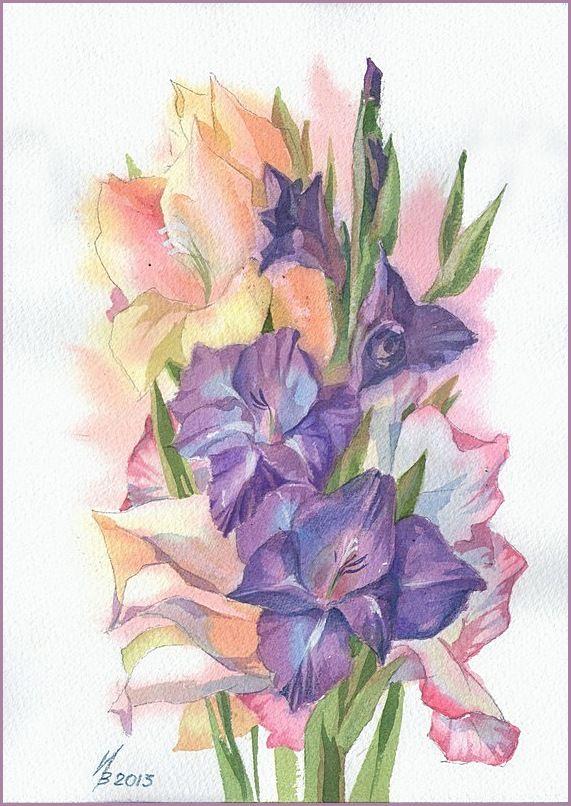 Purple Gladiolus By Kosharik69 On Deviantart Flower Art