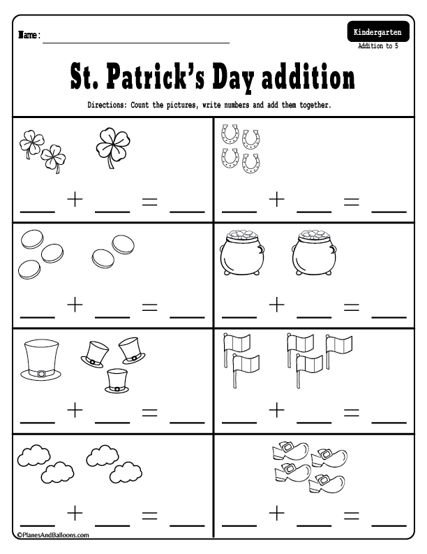 March Addition And Subtraction Worksheets For Kindergarten For Kindergarten Kindergarten Addition Worksheets Addition And Subtraction Worksheets Kindergarten Subtraction Worksheets