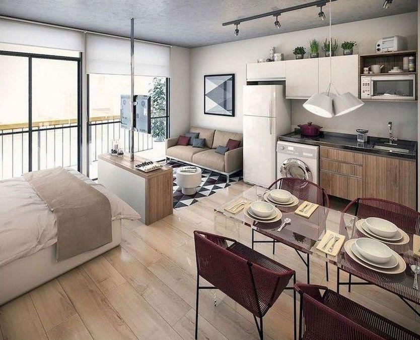 96 Minimalist Apartment Studio Decorating Ideas In 2020 Apartment Layout Apartment Design Small Apartment Decorating