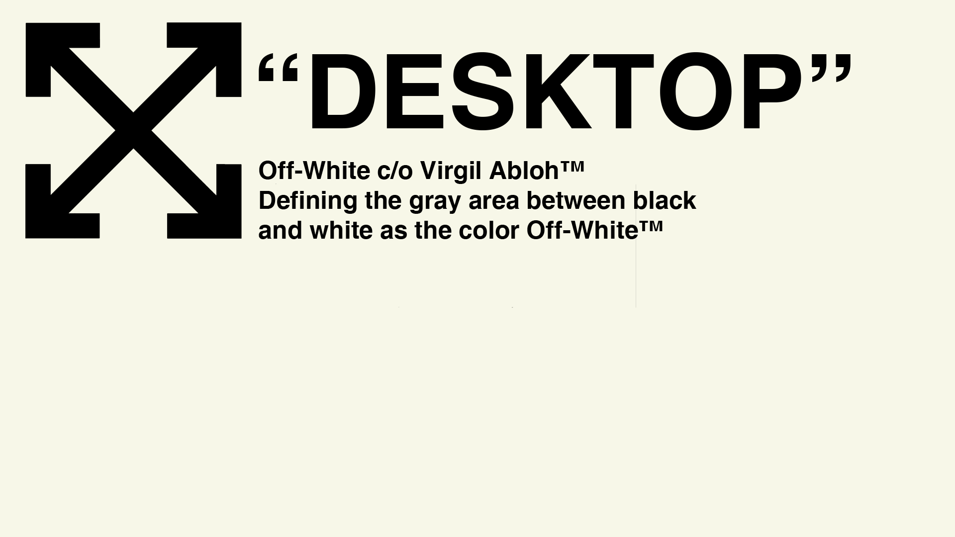 An album of a bunch of Off-White desktop wallpapers all made completely from scratch in ...