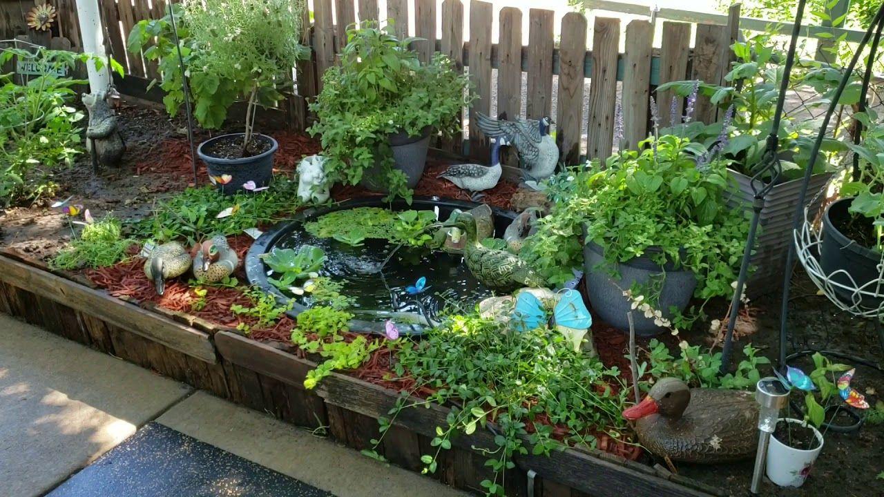 Pond YouTube Diy fountain, Planting pots, Idea creativas
