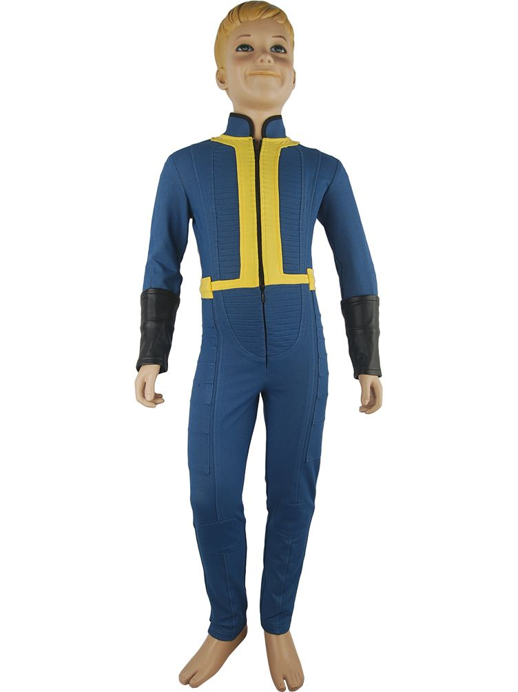 kids boys video game fallout 4 sole survivor nate outfit jumpsuit halloween comic con anime