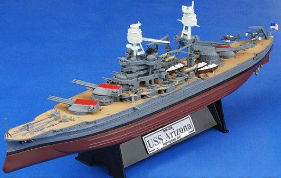 USS Arizona BB39 Battleship, 1941 Pearl Harbor 1/700 Panache Place