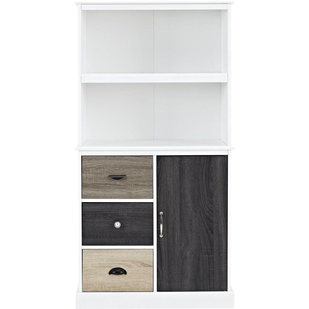 Altra furniture mercer white storage bookcase9634096