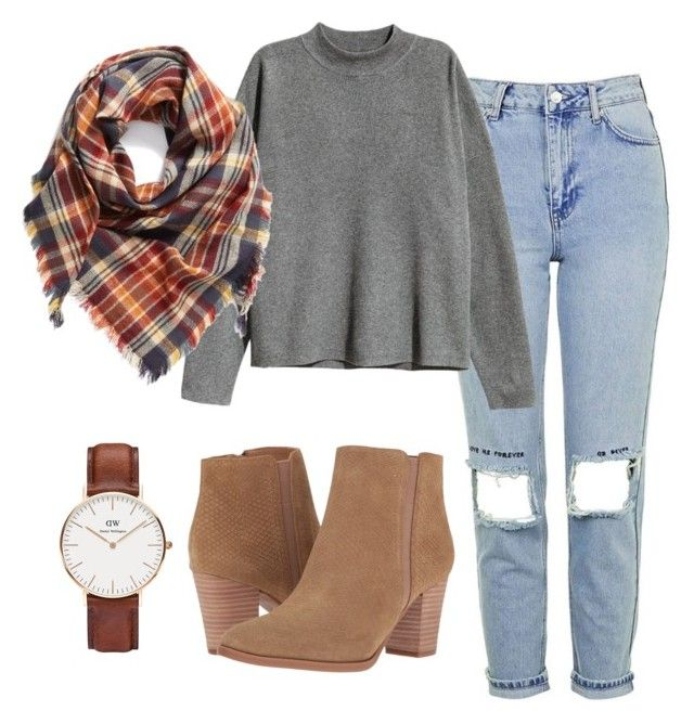"""""""look/fall/love/ootd/autumn"""" by shopaholic02 on Polyvore featuring Topshop, H&M, Franco Sarto, Daniel Wellington and BP."""