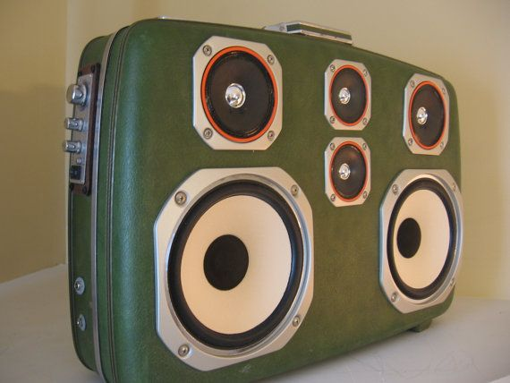 Portable Vintage Suitcase Stereo Funk Trunk by TheFunkadelicRelic ...