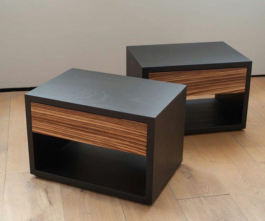 Black Oak And Zebrano Bedside Tables From Natural Bed Company Mesitas De Melamina Con Tonos Maderados Os En 2020 Muebles Muebles Multifuncionales Decoracion De Muebles