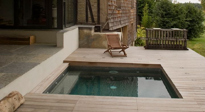 Petite piscine bois 5 small backyard pools pinterest for Mini piscine bois enterree