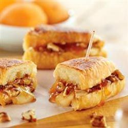 Melted Brie And Apricot Petite Croissants Recipe Food Recipes