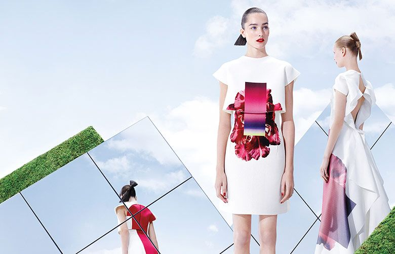 Willy Vanderperre captures Elisabeth Erm & Josephine Le Tutour Carolina Herrera Spring/Summer 2015 Ad Campaign.