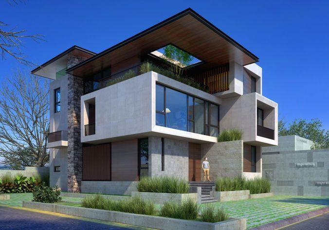 Ad House 3d Model House 3d Model Modern House Exterior House