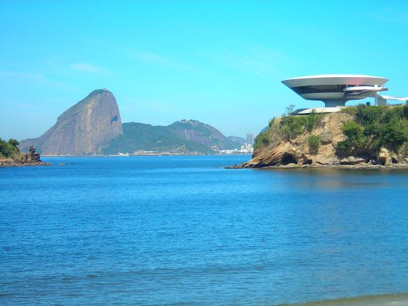 The Niemeyer's View - Museum of Contemporary Art and Corcovado - Rio de Janeiro -Brazil