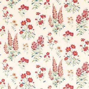 Fernshaw Cranberry Floral Wallpaper