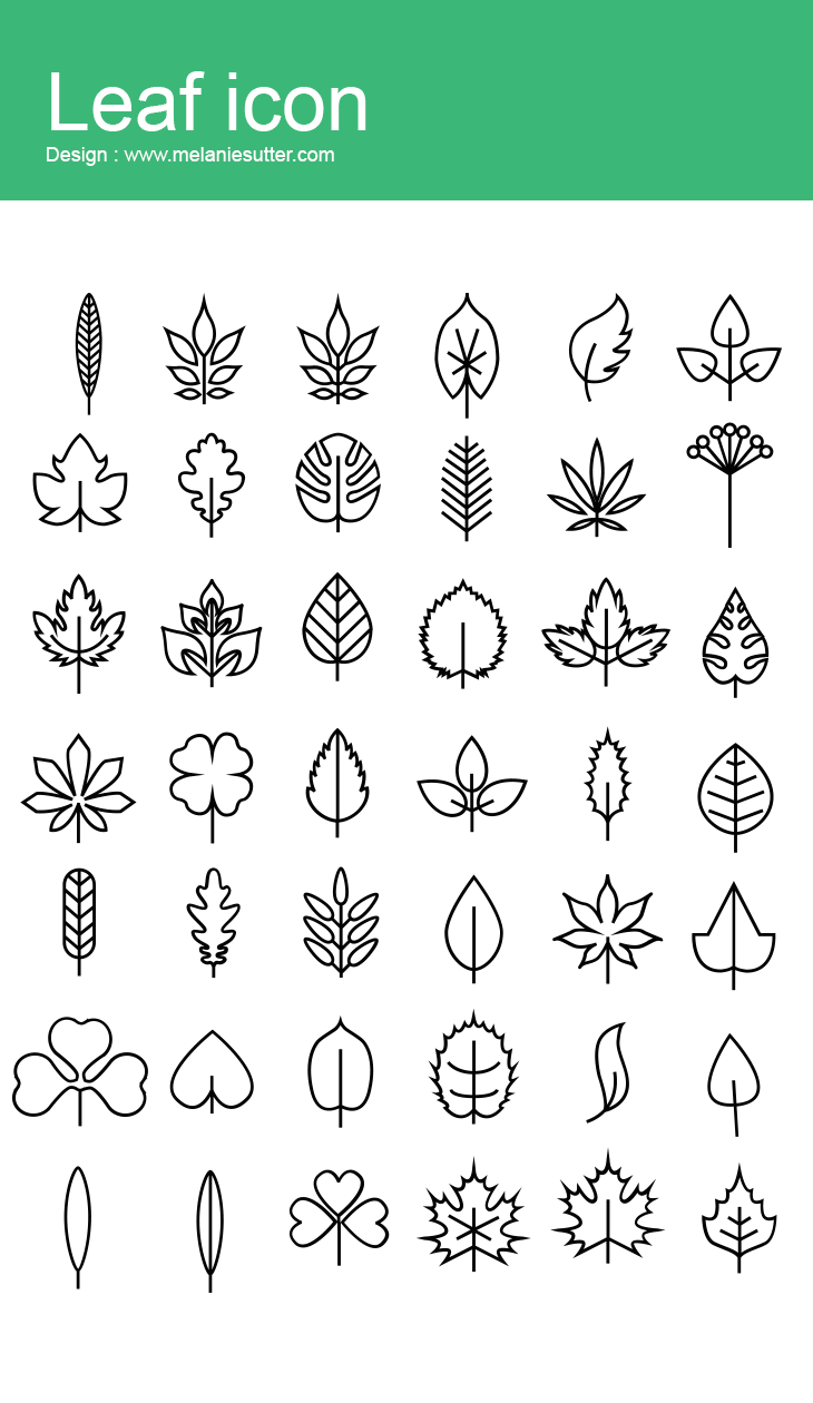 Minimalist Simple Leaf Tattoo: Leaf Icon Collection On Behance