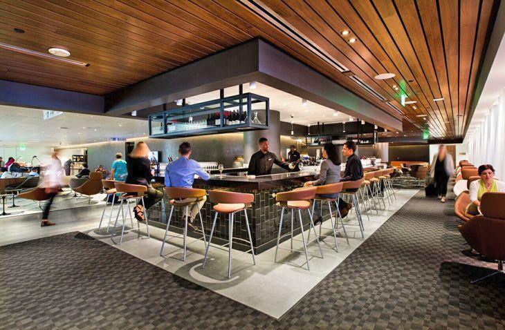 Bigger Better Oneworld Lounge At Lax Photos Travelskills Airport Lounge Business Class Lounge Lounge