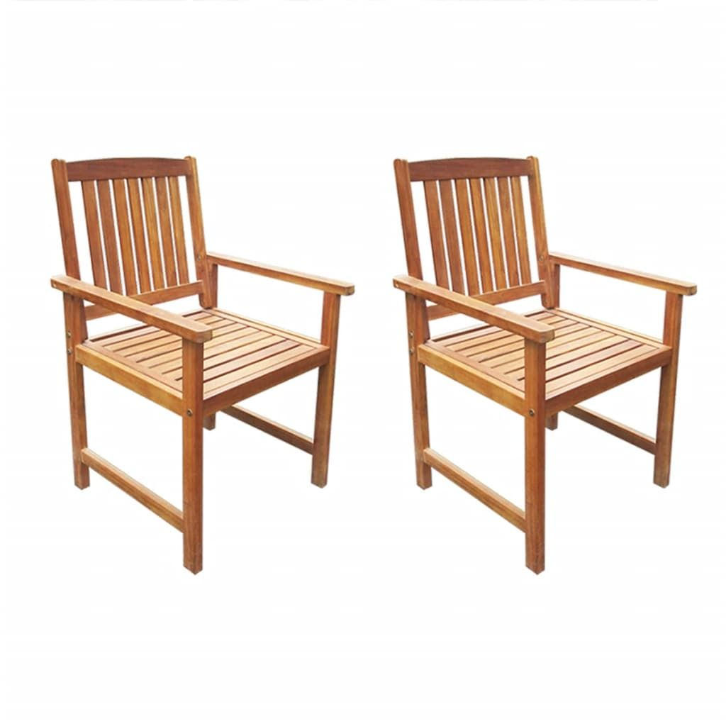 Garden Chairs 2 Pcs Solid Acacia Wood Brownthese Rustic Garden Chairs Will Become The Focal Point Of Your Garden Or Gartenstühle Gartensessel Gartenmöbel Holz