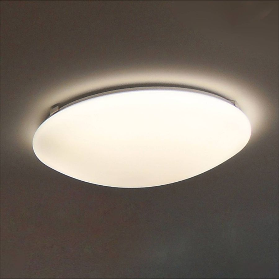 Shop Utilitech Pro 12598in W White LED Ceiling Flush Mount at