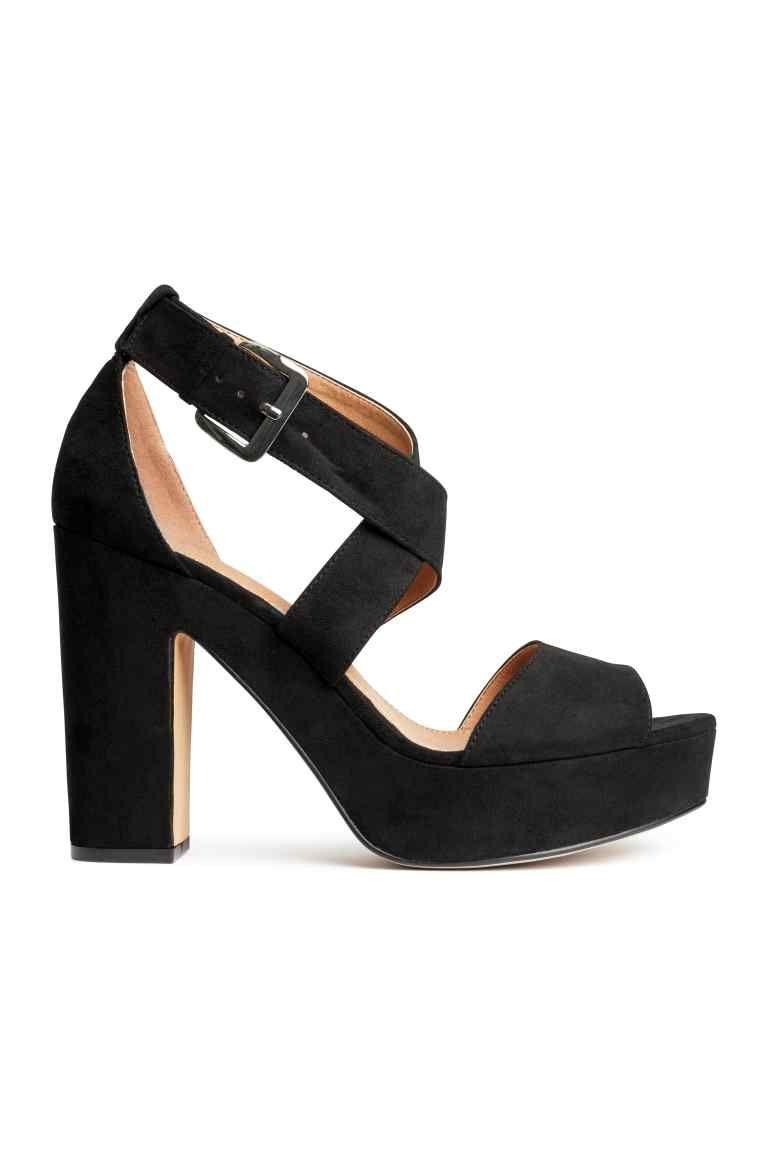 Sandales à plateau - Noir - FEMME | H&M FR