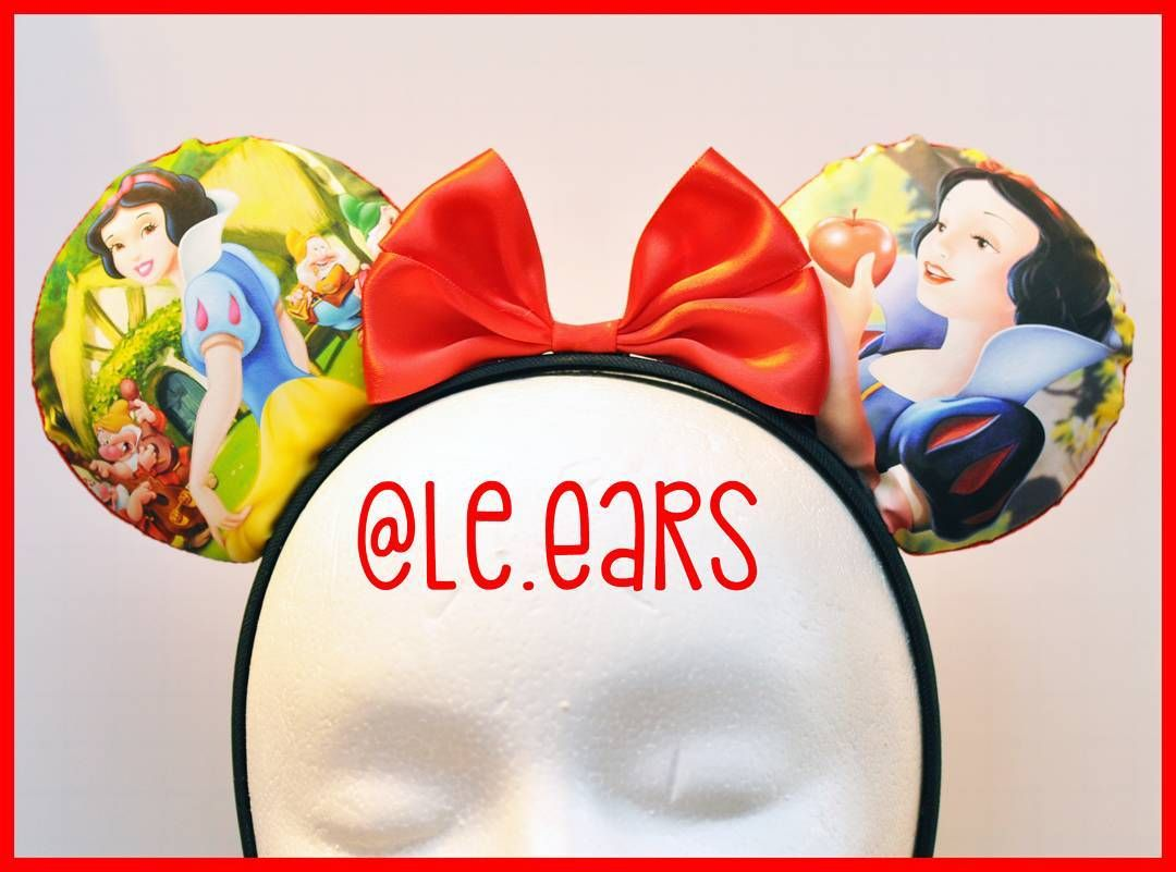 Who doesn't love an original princess.  #LeEars #disneyland #dlr #wdw #disneyparks #magickingdom #annualpassholder #magicband #disneymagic #disneyinspired #disney #disneyprincess #custommickeyears #mickeyears #minnieears #etsy #snowwhite #sevendwarves #poisonapple #princess #supporthandmade #smallbusiness by le.ears
