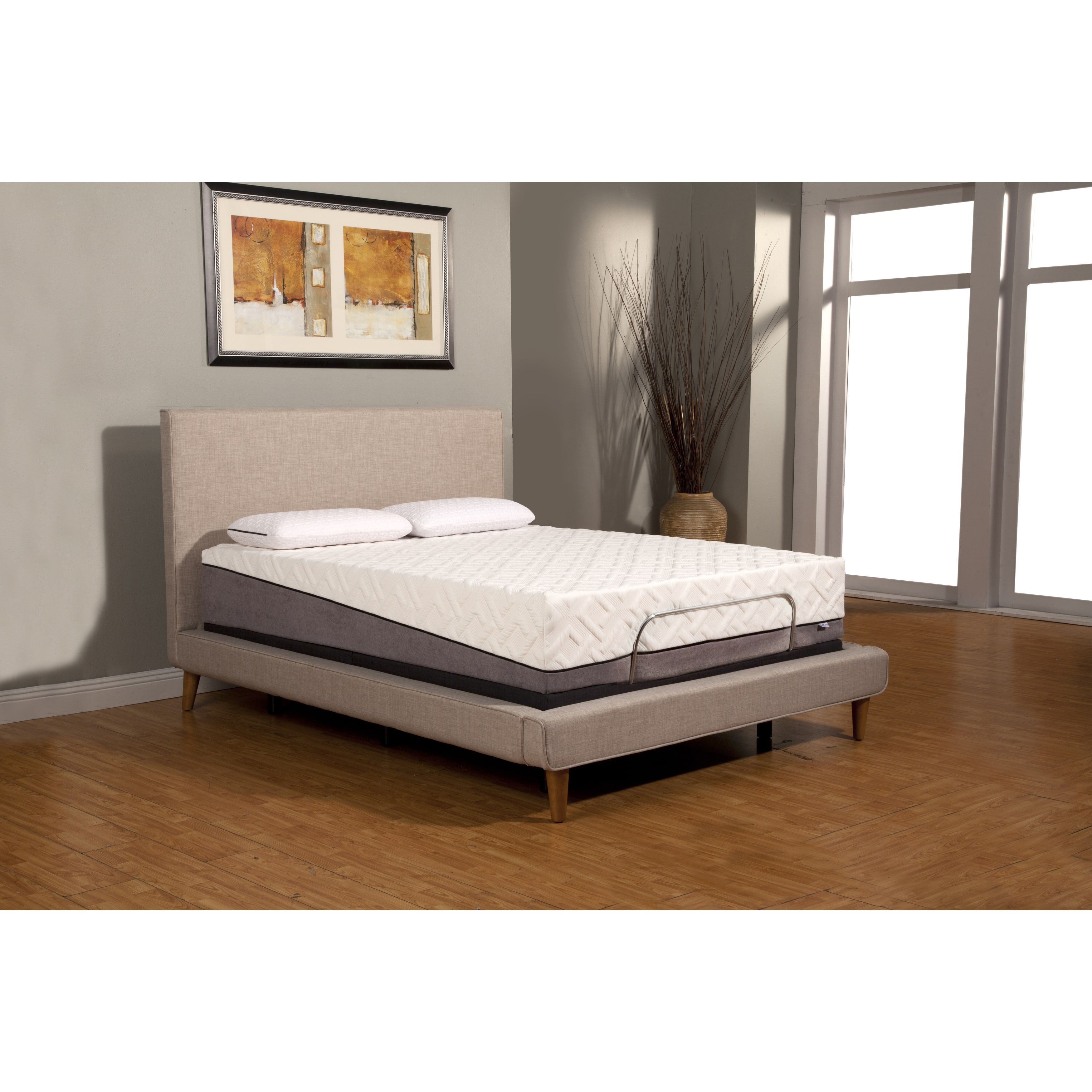 sleep zone pacifica 12 inch queen size memory foam mattress and