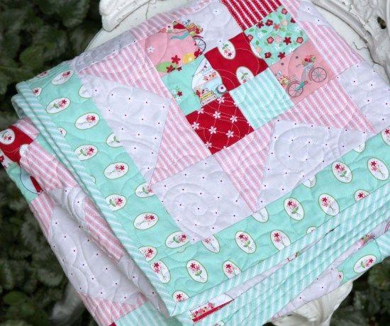 Scrappy Nines Baby Quilt Tutorial