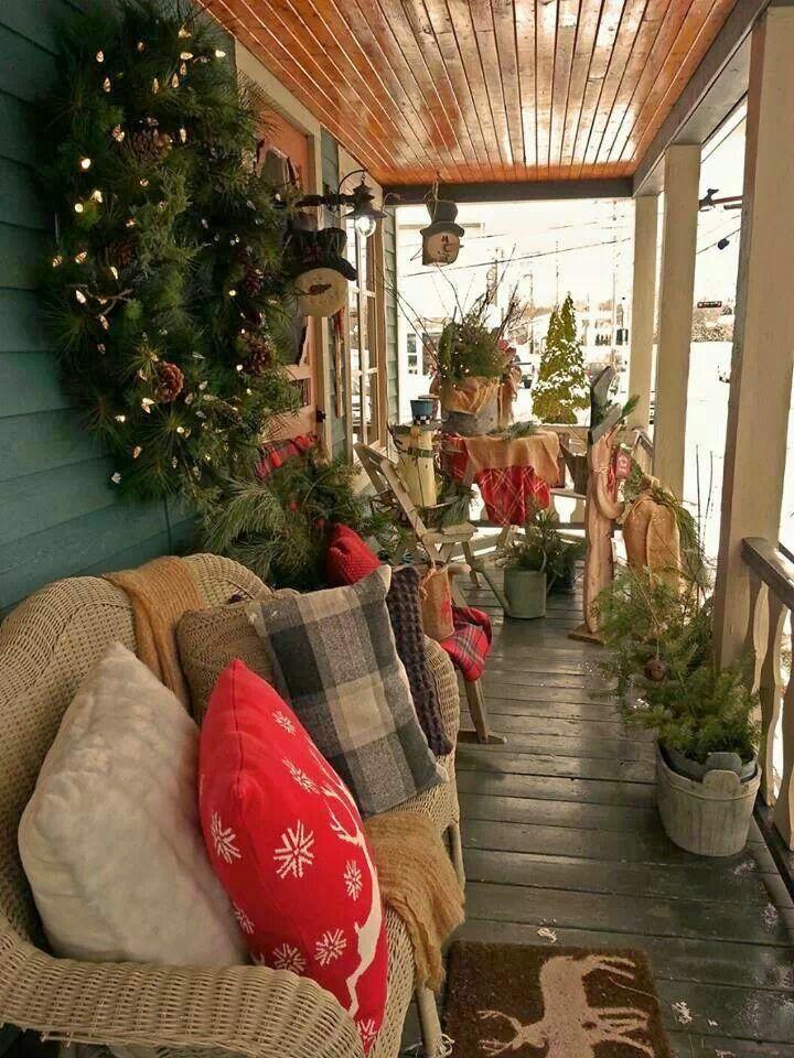 Vickyu0027s Home Navidad en el campo  Country christmas Decoracions