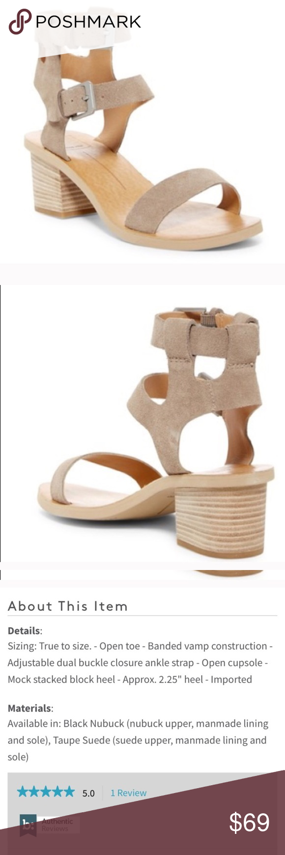 5c8ae96fcd80 NWT Dolce vita west dual suede block heel sandals NEW IN BOX Dolce Vita  Shoes Sandals