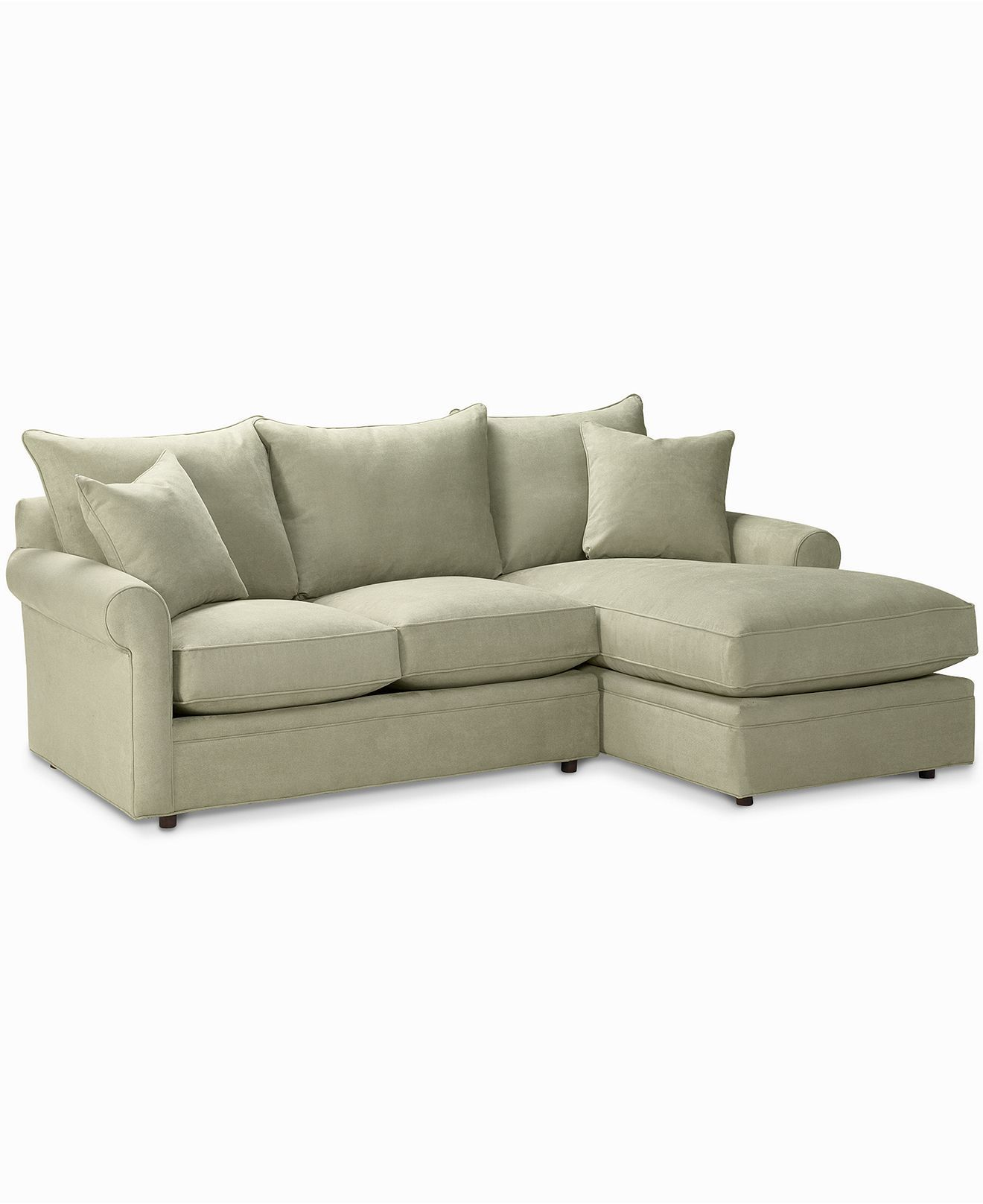 Doss Fabric Microfiber Sectional Sofa 2 Piece Loveseat
