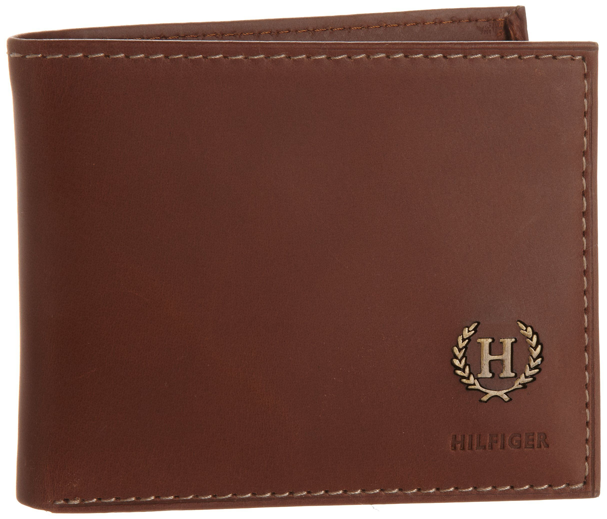 59ddd1a042d Tommy Hilfiger Men's Hove Passcase Billfold, Tan, One Size | Cosas ...
