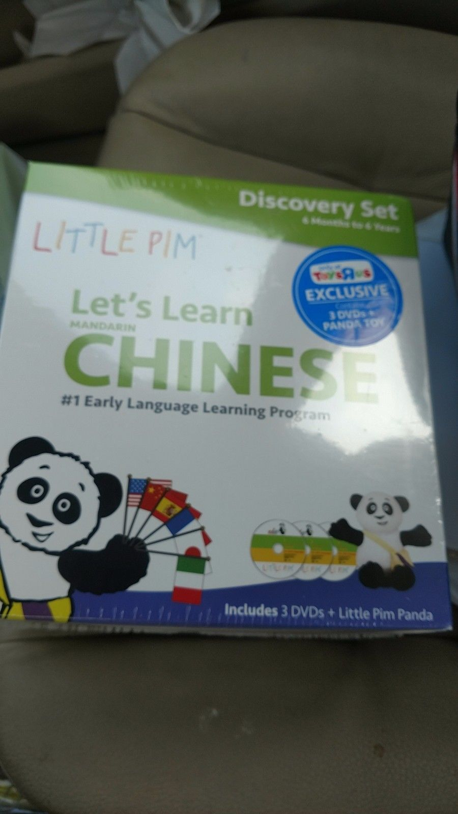 Little Pim Discovery 3 DVD Set Let\'s Learn Mandarin Chinese + Panda ...
