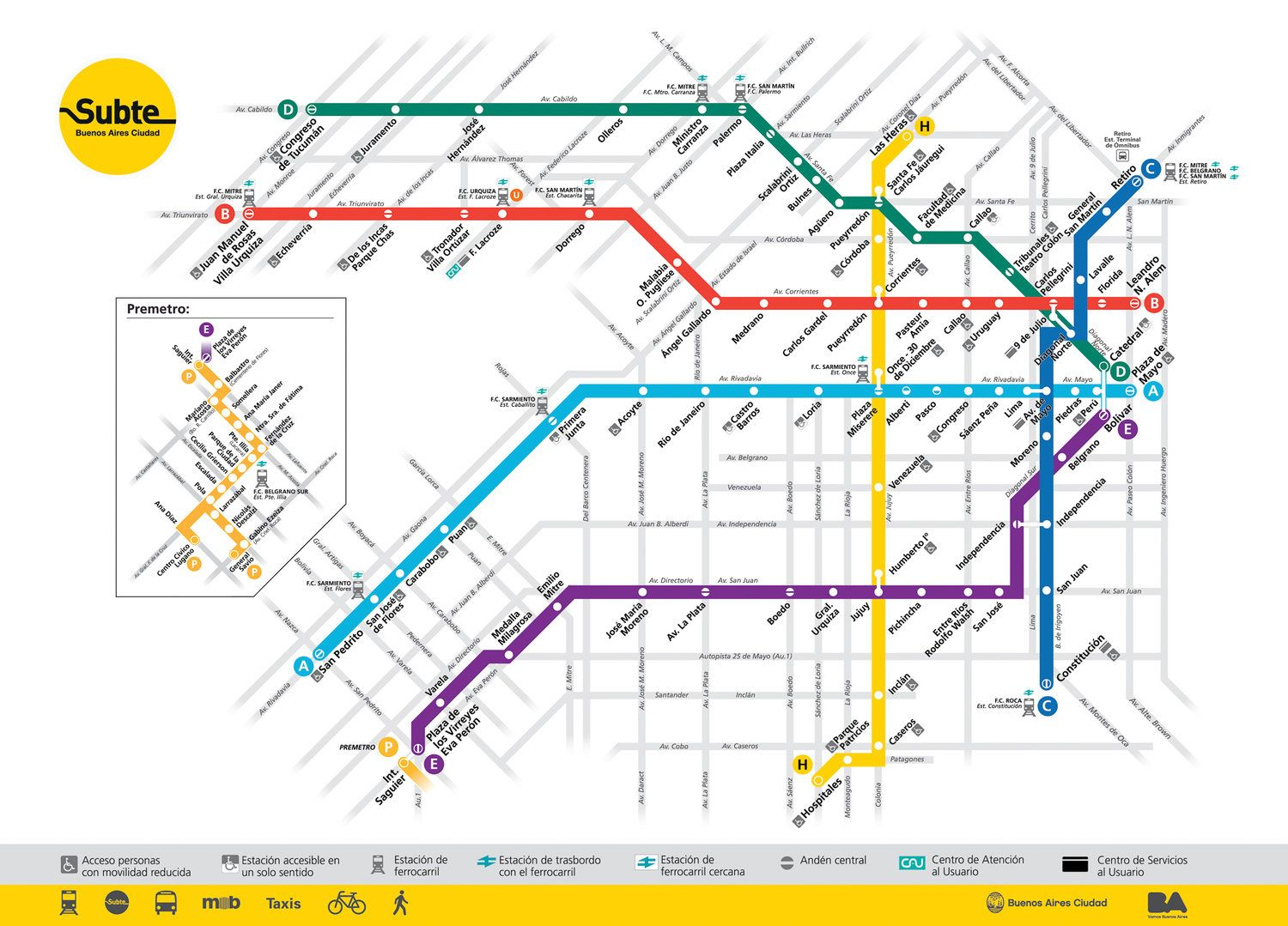 Visit Buenos Aires The Ultimate Buenos Aires City Guide Sol Salute Metro Map Subway Map Transit Map