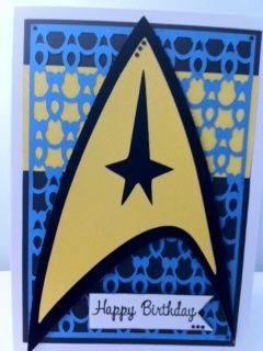 Pin By Kendra Ressler On Handmade Cards Star Trek Birthday Star Wars Cards Birthday Cards For Men