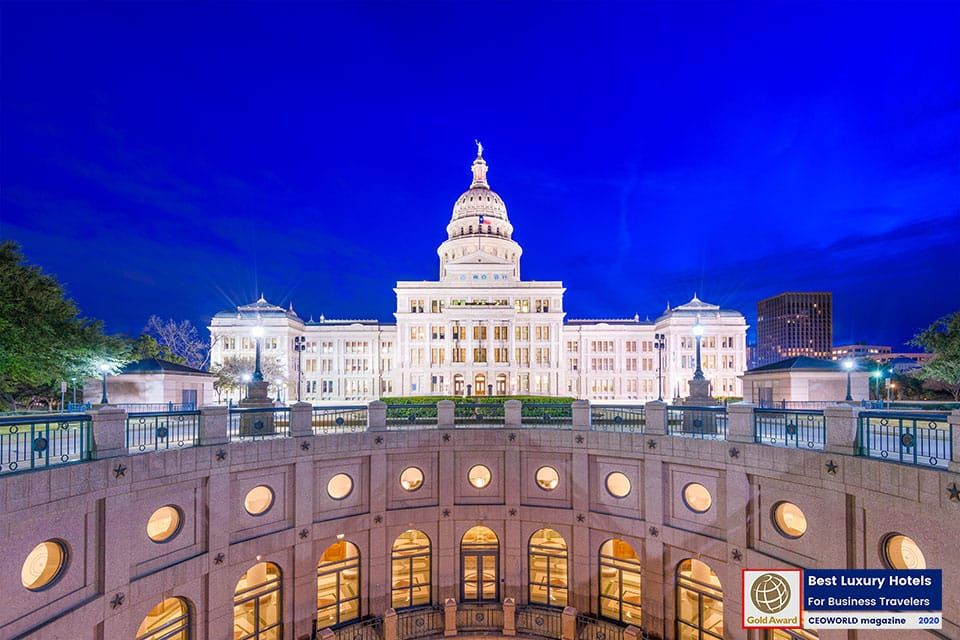 Austin The Capital City Of Texas Is Located At The Boundary