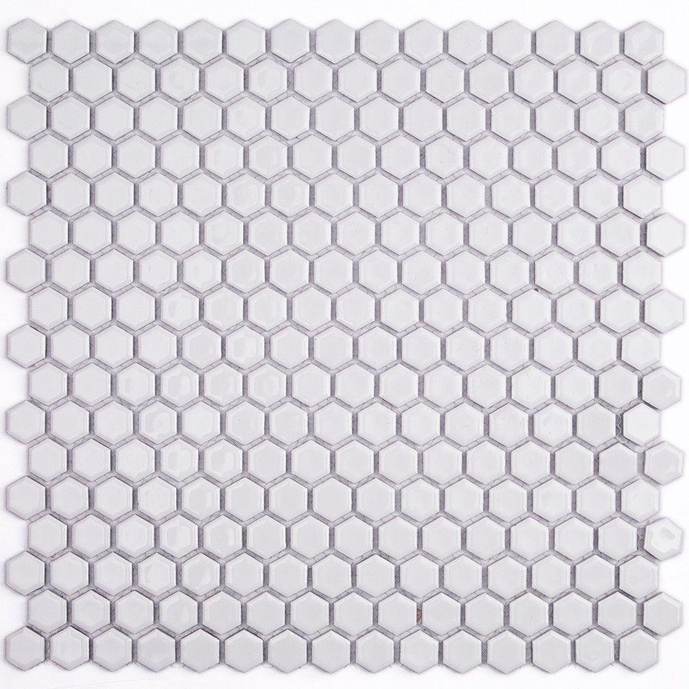 Ivy Hill Tile Bliss Hexagon White 12 In X 12 In X 10 Mm Polished