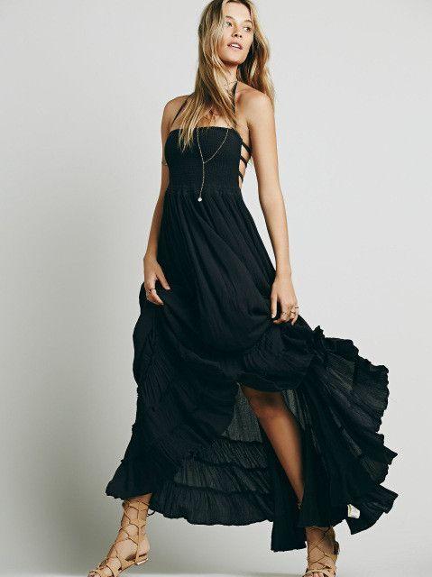 d25d24ae796f Dress Bohemian Sleeveless Kjole Sommer