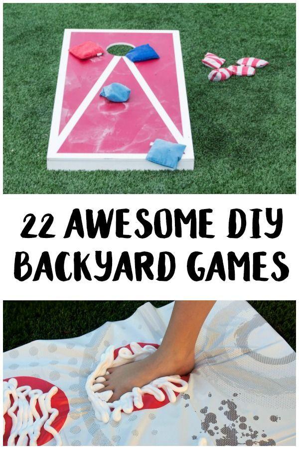 22 Awesome DIY Backyard Games | Backyard party games ...