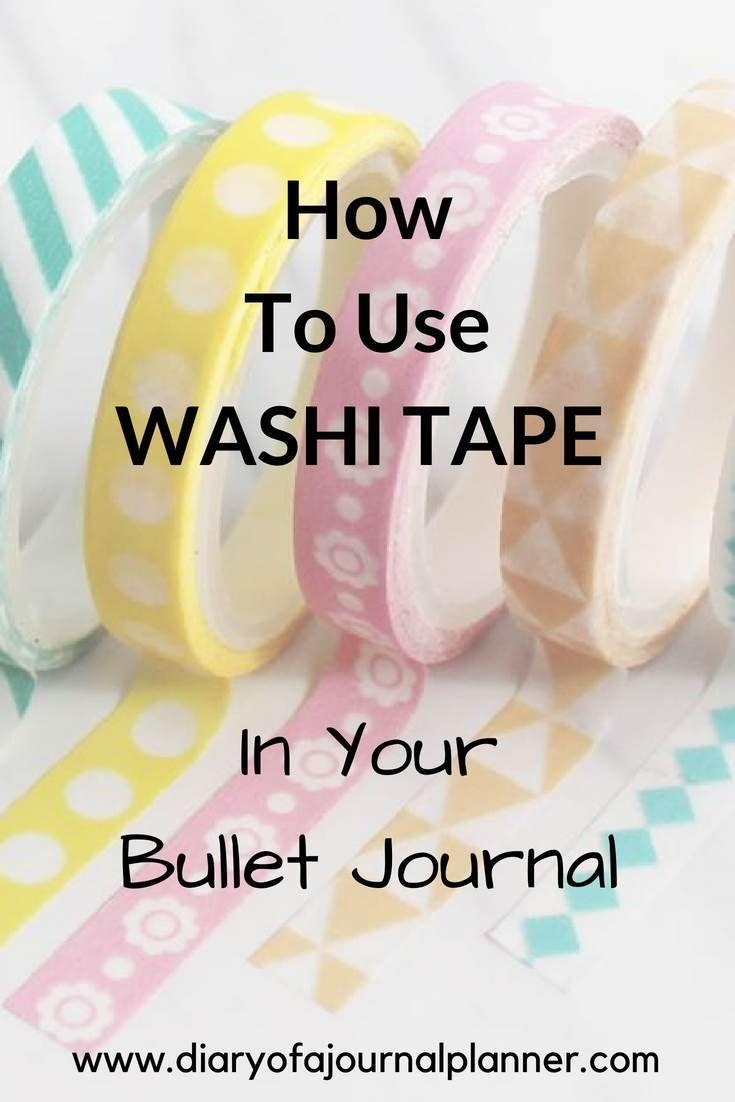 40 Creative Bullet Journal Washi Tape Ideas