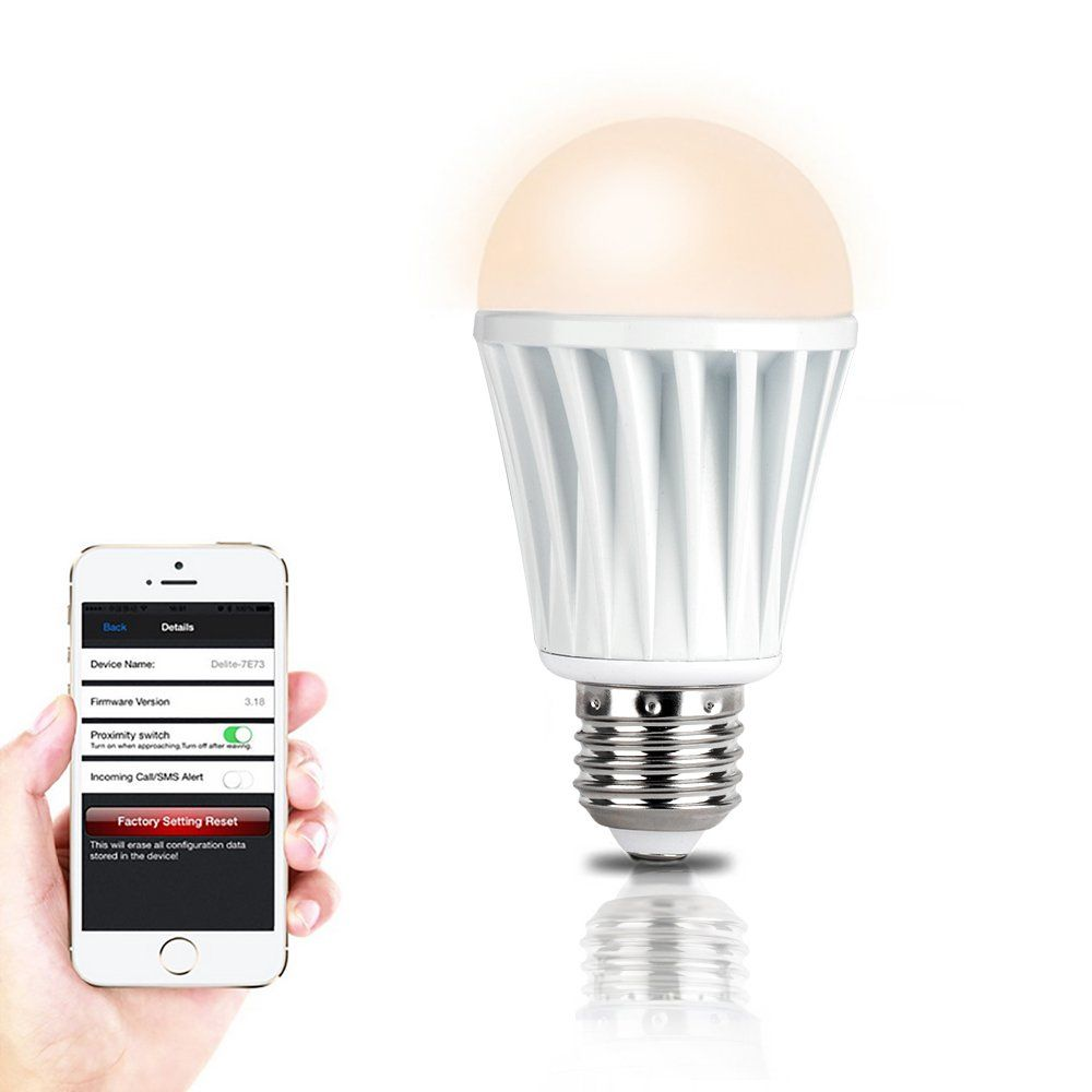 Efanr Reg Smartphone Controlled Bluetooth 4 0 Rgb Led Light Bulb Dimmable Multicolored Color Changi Led Color Changing Lights Rgb Led Lights Light Bulb Lamp
