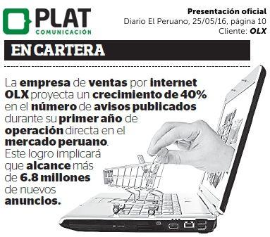 OLX: Presentación oficial en el diario El Peruano (25/05/16)