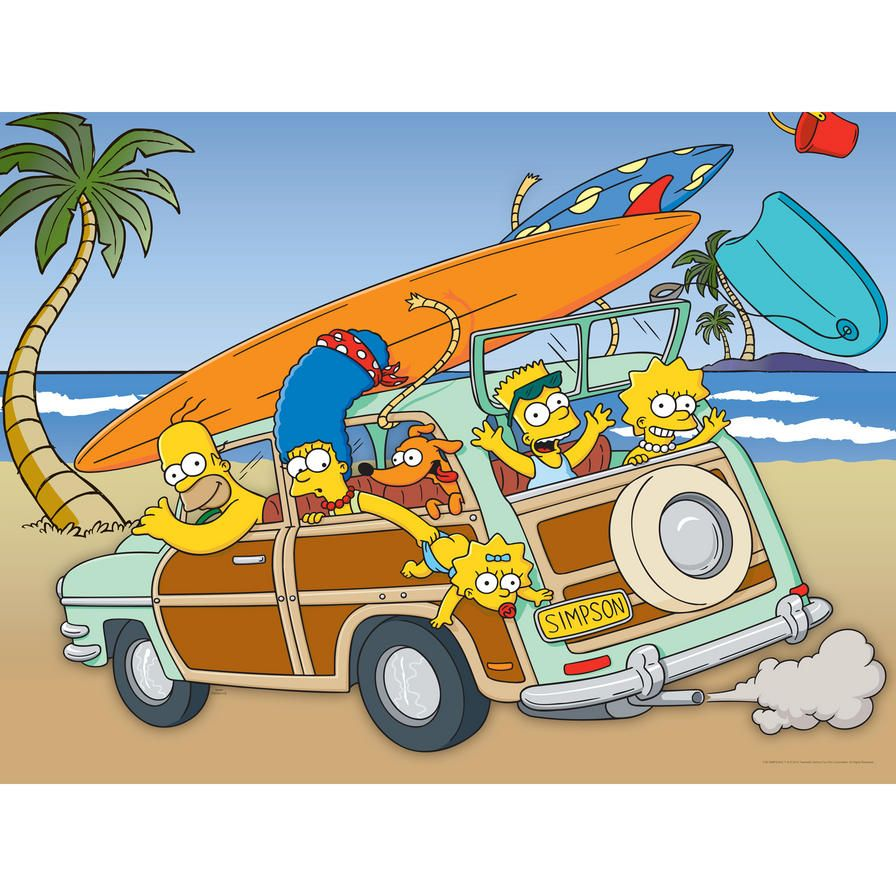 Simpsons Kitchen Remodel: The Simpsons Family Vacation Wall Art