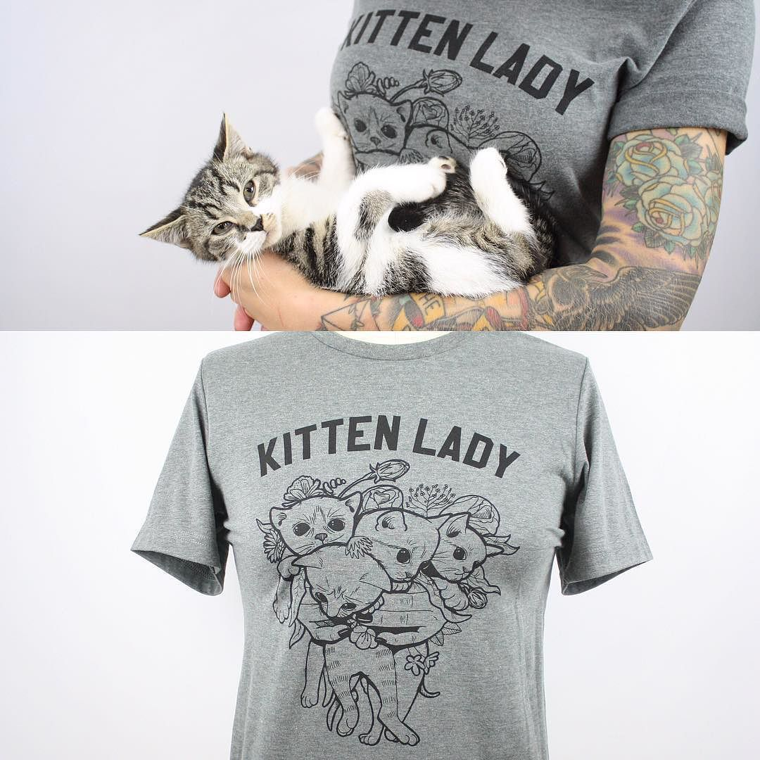 Hannah Shaw On Instagram Woo Hoo The Kitten Bouquet Shirt Is Back In Stock Packing Orders All Night Support Kitten Kitten Season Kitten Kitten Rescue