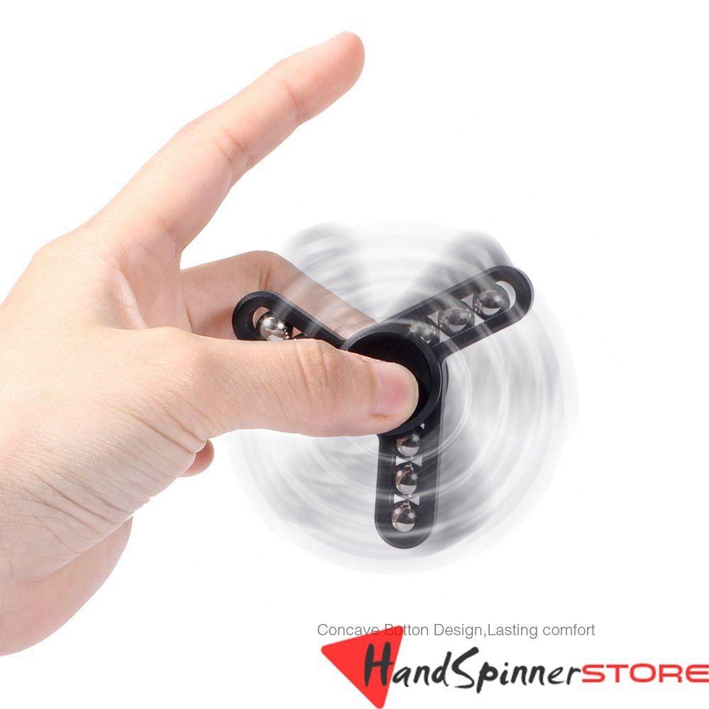 Aluminum Hand Spinner Tri Fidget Finger Fingertip Gyro Desk Toy EDC Kids Adult