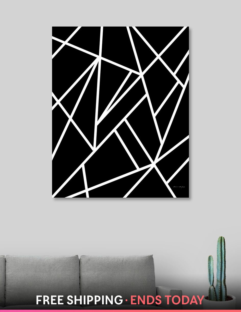 Classic Black White Geo 1 Geometric Decor Art Canvas Print By Anita S Bella Numbered Edition From 59 Curioos Paintings