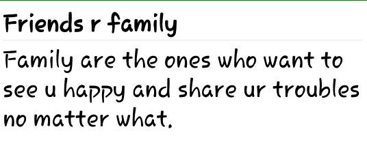 Oh yeah, such friends are surely ur family ♡♡