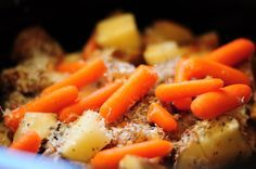 Italian chicken and potatoes, crock pot - made this tonight and it was great (and super easy)! Claire even asked me to make it again sometime because it was delicious :)
