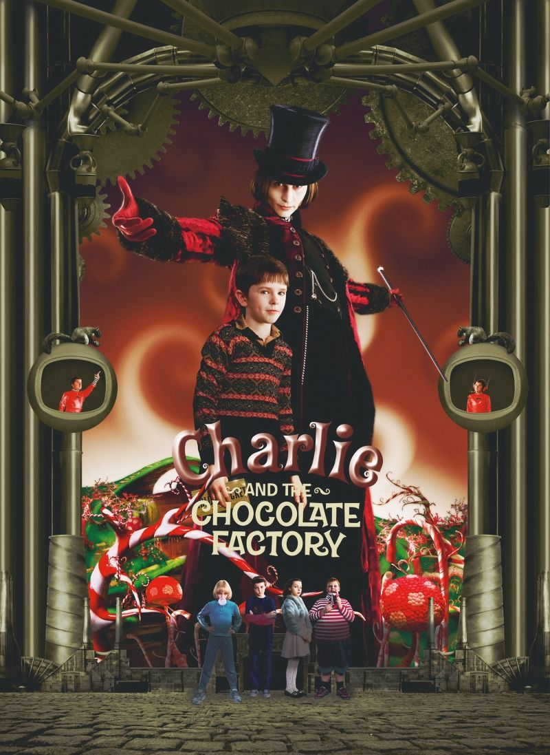Charlie And The Chocolate Factory 2005 Johnny Dep And Freddie