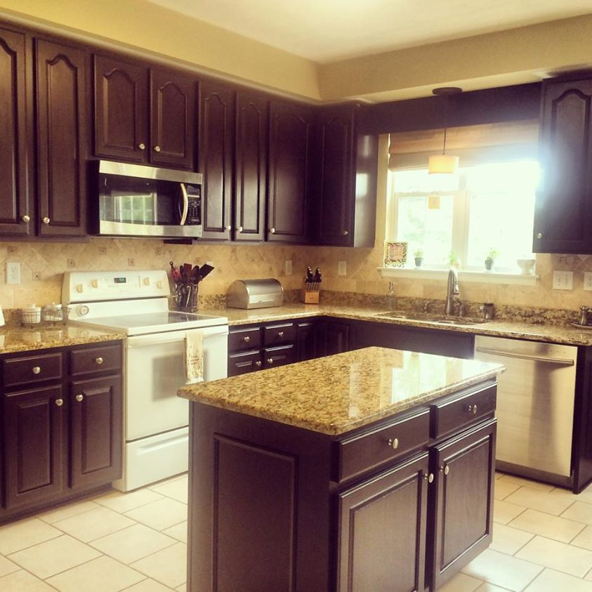 Dark Chocolate Kitchen Transformation Milk Paint Kitchen Cabinets Tuscan Kitchen Kitchen Cabinets On A Budget
