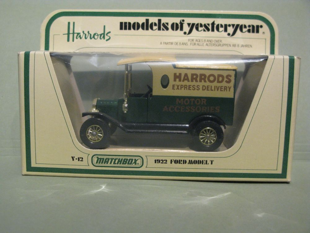 Ad Matchbox Models Of Yesteryear Y12 1922 Ford Model T Harrods