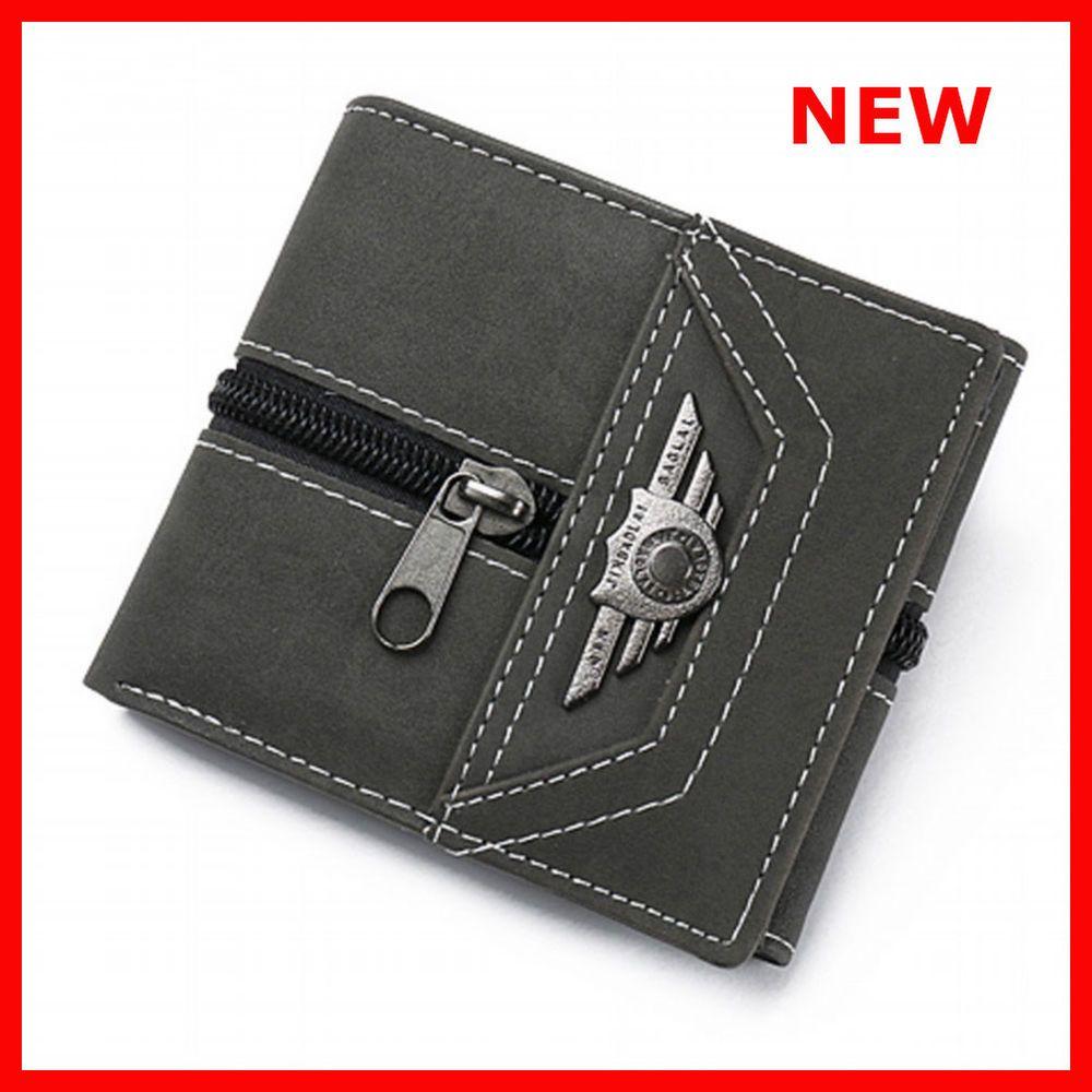 cc1d4460f126 Wallet Men Leather Wallets Purse Short Male Money Bag Credit Card Id ...