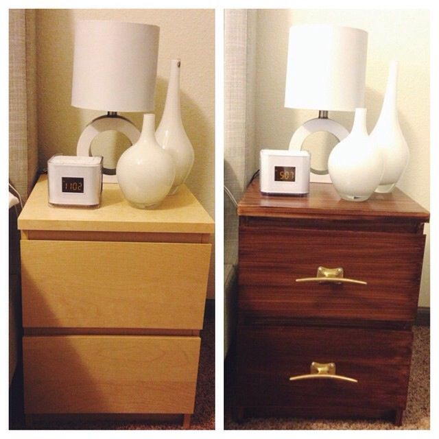 IKEA Hack: DIY IKEA Malm Nightstand with Gel Stain and ...